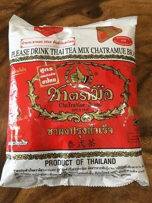 Chatramue Brand Please Drink Thai Tea Mix 400g Authentic Street Food Stall Drink