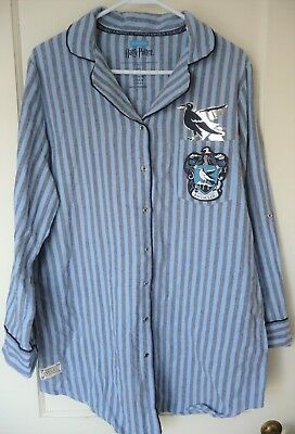Primark Harry Potter Hogwarts Pajama Nightshirt, Ravenclaw, NEW with Tags, sz M