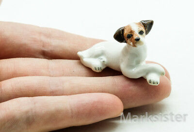 Figurine Animal Ceramic Statue Jack Russell Terrier Dog - CDG025
