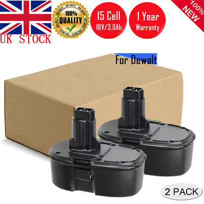 2x New 18V 3.0Ah DE9098 Battery For Dewalt Cordless Drill DC9096 DE9095 DC725 UK