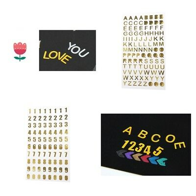 Self Adhesive Gold Alphabet Letters/Numbers Scrapbooking DIY Craft Stickers