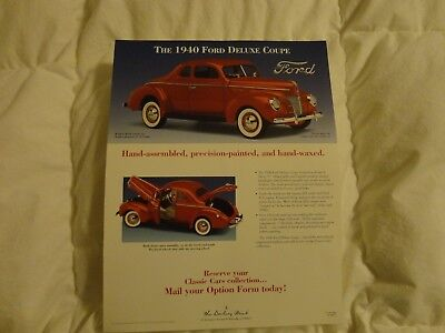 Danbury Mint 1940 Ford Deluxe Coupe Brochure