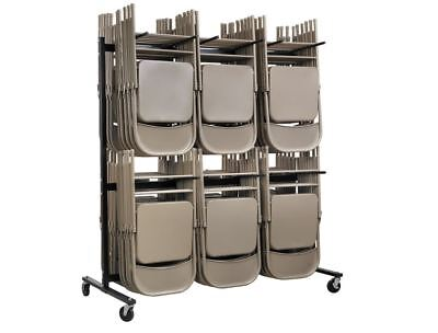 Folding Chair Dolly Storage Cart Rolling Cart Two Tier Hanging Church Banquet