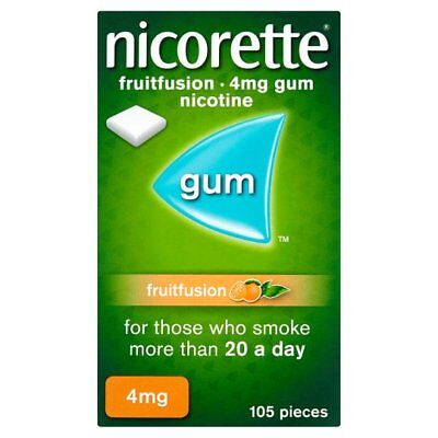 nicorette 4mg nicotine gum in fruitfusion - 105 pieces