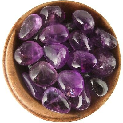 1 AMETHYST Brazil - Ethically Sourced, 1 Inch Tumbled Stone