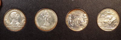 Set of Four Silver So Called Half Dollars, Gem Uncirculated with Nice Toning!