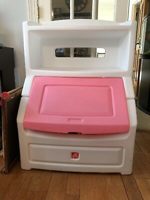 STEP2 Lift And Hide Bookcase Storage Chest (PINK) Toy Box & STEP2 LIFT AND Hide Bookcase Storage Chest (PINK) Toy Box - $75.00 ...