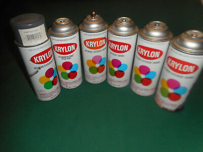 Lot of 6 Vintage KRYLON SPRAY PAINT CANS Made by Borden  ~  1 Fluorescent 1960s