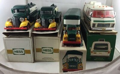 Hess Truck Lot Of 4: 1992 X2, 1980, 1976 With Boxes