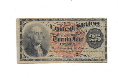1863 25 Cents Fourth Issue Fractional Currency