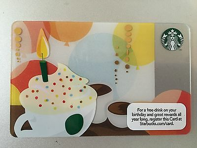 New 2012 Starbucks Birthday Gift Card 6077 No Value