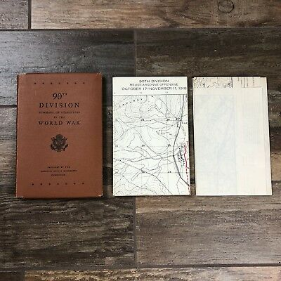 History 90th Division Summary Of Operations In The World War & Maps 1944    M24