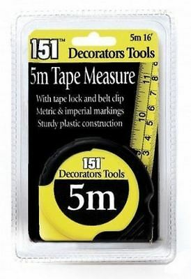 Soft Grip 5m/16ft Or 8m/26ft  HI VIZ End Tape Measure decorator,diy, plumber,...
