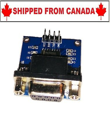 RS232 to TTL Serial Port Converter Female DB9 Connector - SHIPPED FROM CANADA