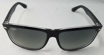 1a7645f65c RAY BAN RB4147 6039 71 Black on transparent grey gradient azure ...