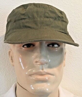 Wwii G.i. M1943 Late War Manufacture O.d. Cotton Field Cap With Visor (7 1/4)