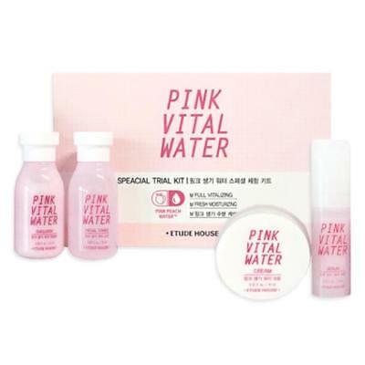 Korea Cosmetic Etude House Pink Vital Water Special Trial Kit Skin Care Set