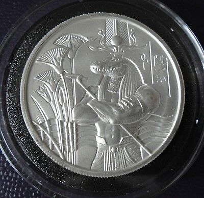 Egyptian Gods Series Sobek Ultra High Relief 2 Oz Silver