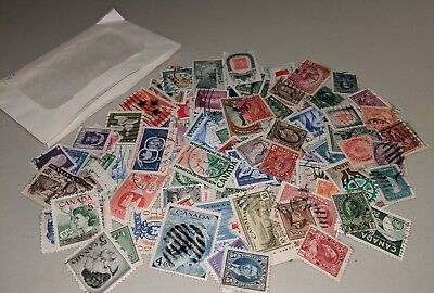 Stamp Pickers Canada Classic Stamps QV-QEII 100 Different Estate Collection Lot
