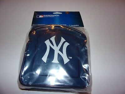 MLB New York Yankees Sandwich Container BPA Free, Dishwasher Safe, Reusable/ New