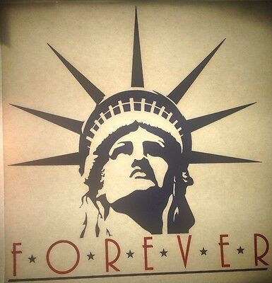 Vintage 80s Forever Statue Of Liberty Iron-On Transfer RARE!