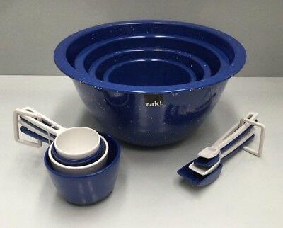 Zak Designs 12Pce Melamine Homewares Kitchen Mixing Bowl Set