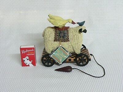 Williraye Studio Folk Art Sheep, Goose & Bird 'Making Friends' - Retired