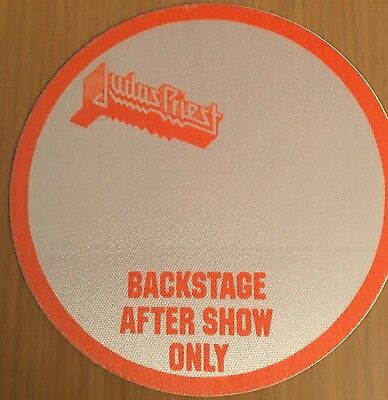 Pase De Tela - Ticket - Entrada  - Judas Priest - Backstage After Show - Orange