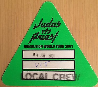Pase De Tela -Ticket -Entrada Concierto - Judas Priest - Demolition World Tour