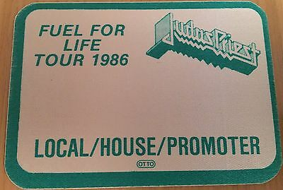 Pase De Tela - Ticket - Entrada - Judas Priest - Fuel Tour 1986 - Promoter