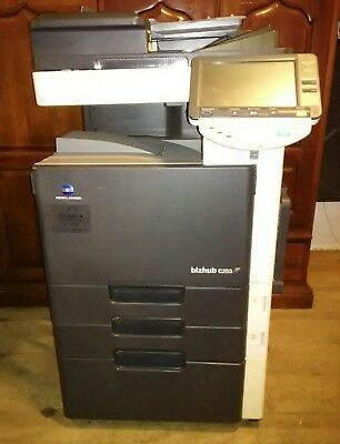 Konica Minolta Bizhub c253 Copier Printer Scanner Network fax 3 image units only