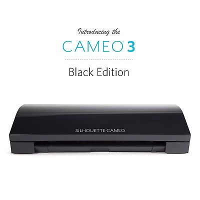 Silhouette Cameo 3 BLACK EDITION - Cutter / Plotter for Transfer/Vinyl/Card etc