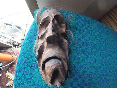Stunning Hand Carved Wooden Gothic Old Man Face Carving