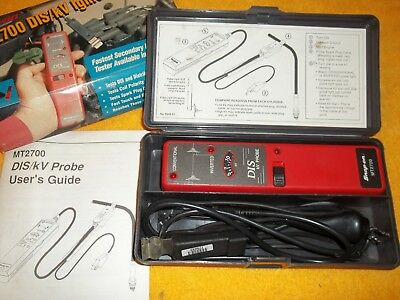 SNAP ON TOOLS MT2700 Dis/kv Probe Ignition Diagnostic Tester & Case Manual