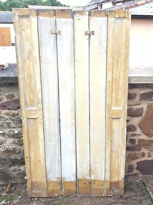 VINTAGE WOODEN SHUTTERS (stripped and ready for painting)