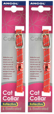 Ancol Reflective Softweave Cat Collar Red 2 Pack Deal