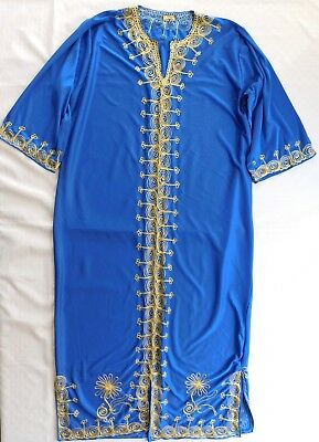 Traditional embroidered robe Art Bedouin mans jubba thole kaftan NEW IMPERFECT K