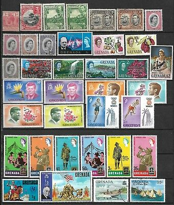 Collection Lot Of 97 Grenada Stamps Clearance 3 Scan 1913+