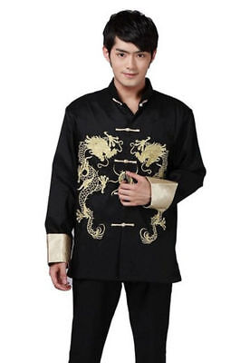 TRADITIONAL CHINESE MENS Embroidered Dragon Kung Fu Suit