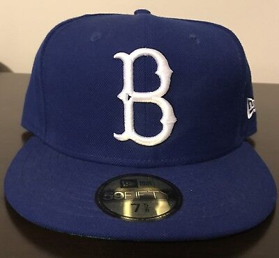 b19057bc NEW ERA BROOKLYN Dodgers B Fitted 59FIFTY Hat Cap Royal Blue Rare MLB