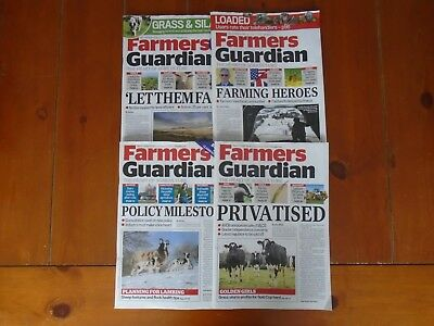 LOT OF 4 x FARMERS GUARDIAN MAGAZINES-MARCH EDITIONS-EXCELLENT CONDITION