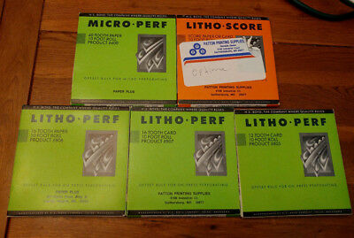 H.S. Boyd Litho-perf Litho-score Micro-Perf 805 806 807 400 826 Lot 5 Card Paper