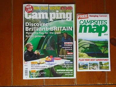 Camping Magazine-May 2018 Edition-With Free Campsites Map-Excellent Condition
