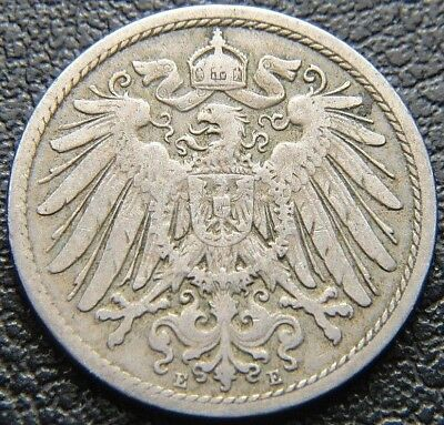 Germany 1899 - E 10 Pfennig German Empire Coin (Wc0031)