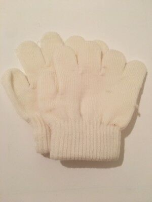 Guanti Magic Gloves Bambino Bambina Inverno Neve Color Crema Come Da Foto