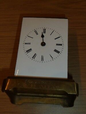Incomplete antique carriage clock c1870's for spares - military interest