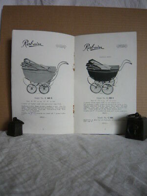 Vintage Catalogue Rabairn Baby Carriages Prams 1938