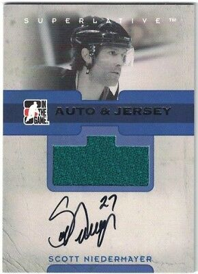 NHL Jersey & Auto Tradingcard – Scott Niedermayer – Anaheim Ducks - /50