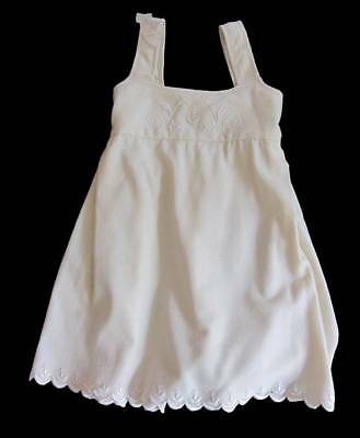 Antique girls pinafore dress cream wool embroidered NWT's age 5