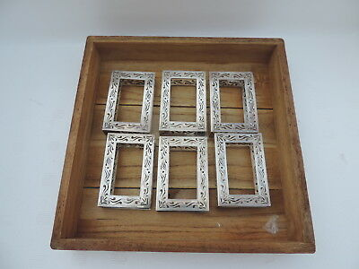 6 ANTIQUE SIGNED JAPANESE MEIJI  STERLING SILVER MATCH BOX HOLDERS 122 gr 4.2 oz